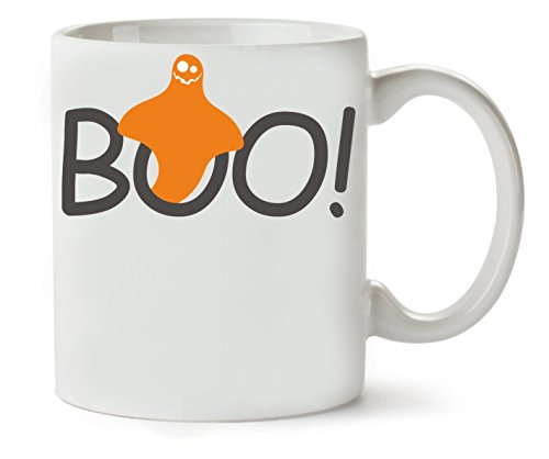 Boo Halloween Ghost Orange Klassische Teetasse Kaffeetasse