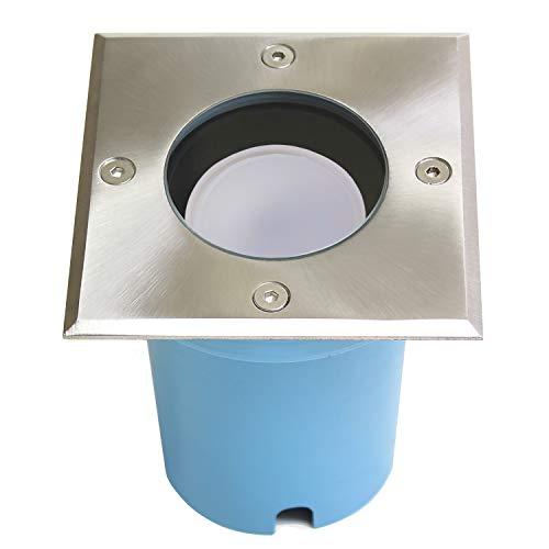 Foco empotrable en el suelo LED, luminaria empotrada ENTRADA GU10 incluido 1X...