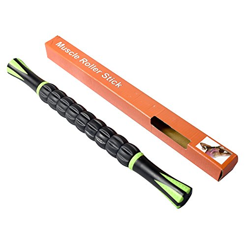 crayfomo músculo rodillo stick cuerpo masaje Roller Stick para liberación miofascial puntos de activación, reduce el dolor muscular, calambres, rigidez y apto para atletas, Instructores, terapia física, Yoga