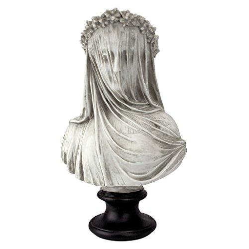 Design Toscano die verschleierte Jungfrau Büstenstatue, Maße: 22,8 cm x15,2 cm x35,5 cm