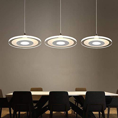 3-head 36w Led Ultradünne Pendelleuchte Kronleuchter, Moderne Elegante Minimalism Kücheninsel Esszimmer Bar Studie Wohnzimmer-hängende Lampe, Runde Acryl Schatten -