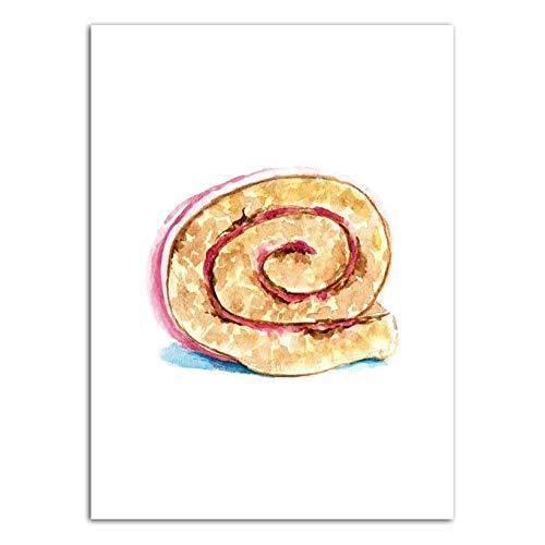 LKYH Vinsonloud Home Decoration Moderne Wandkunst Poster Bild Druck Leinwand Öl Un Drawings Dessert Kuchen Muffin Cup Kuchen-60cm*90cm(Rahmenlos)