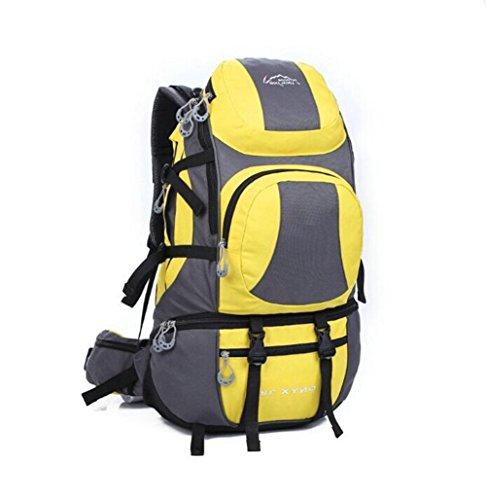 Wmshpeds 45L Borsa a tracolla grande capacità impermeabile zaino alpinismo uomini & donne all'aperto borsa a tracolla D