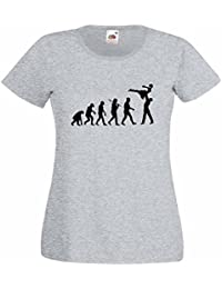 Evolution of a Dancing Lift Ladies Heather T-Shirt with Black Print