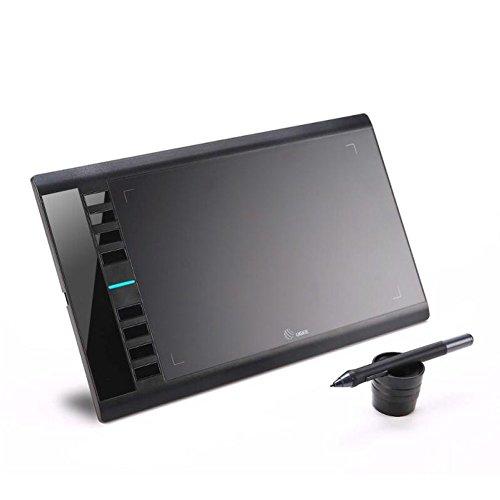 Grafiktablett Ugee M708 10 x 6 Zoll Zeichnung Tablet mit 8 Schnellzugriffstasten, 8192 Stufen Druckempfindlichkeit Pen