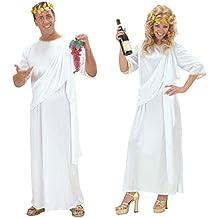 Römische Toga Griechin Kostüm weiß L UNISEX Griechische Göttin Kleid Antike Kostüm Römerinkostüm Römer Grieche Senator