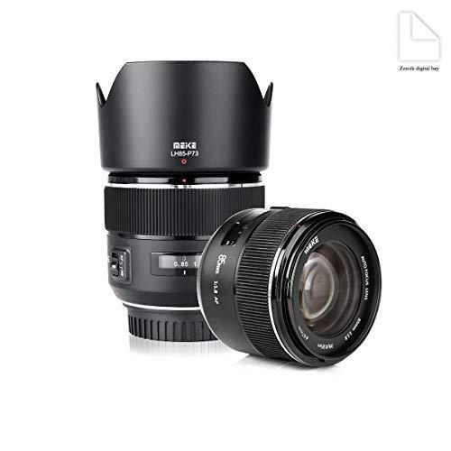 Meike 85mm f1.8grande auto focus aperture Full Frame prime teleobiettivo per EOS EF, compatibile con 1D APS-C organi come 5D35D46D 7D 70D 550D 80D by Zenith Digital Bay