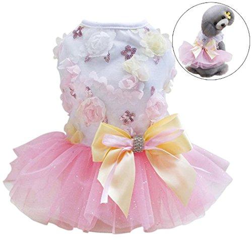 Hund Hochzeitskleid, Legendog Hund Kleid Kleidung Blumen Bowknot Gedruckt Party Hund Kleid Haustier...
