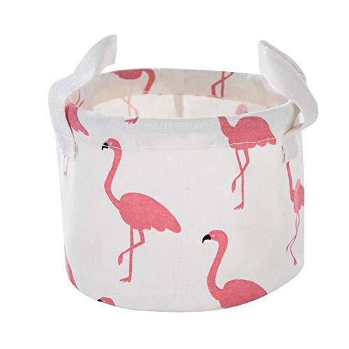 Beige Ostrich (Desktop Ablagekorb Druck Wasserdicht Organizer Baumwolle Leinen Kleinigkeiten Aufbewahrungsbox Schrank Unterwäsche Aufbewahrungstasche (Color : Beige Ostrich R))