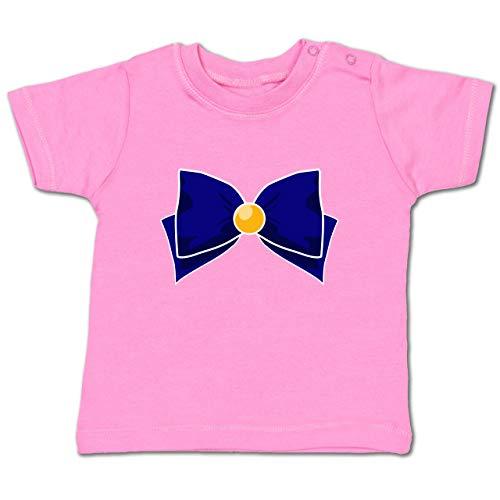 Karneval und Fasching Baby - Superheld Manga Venus Kostüm - 18-24 Monate - Pink - BZ02 - Baby T-Shirt ()