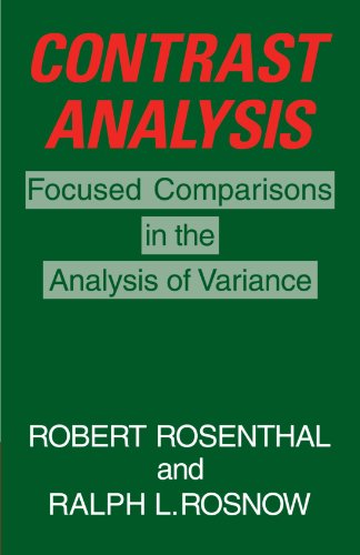Contrast Analysis: Focused Comparisons in the Analysis of Variance: Focused Comparison in the Analysis of Variance