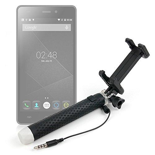 DURAGADGET Palo Selfie (Selfie-Stick) para Smartphones Doogee 5S / HP Elite X3 / Meizu Pro 6 / Cubot P12 / ZOPO Speed 8