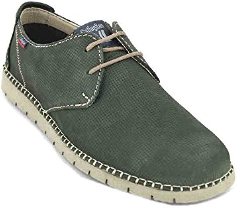 Callaghan Zapato de Piel Verde 84752 -