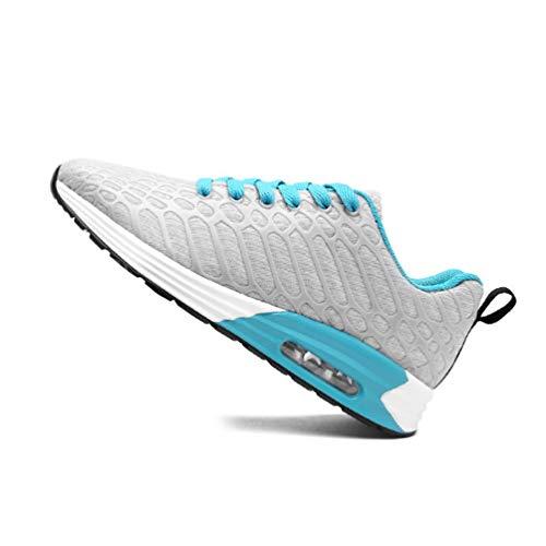 LanFengeu Unisex-Erwachsene Turnschuhe Gemütlich Mesh Atmungsaktiv Entspannt Runde Kopf Dämpfung Outdoor&Sports Sneaker Grau 38 EU