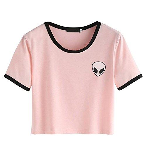 ropalia-damen-short-sleeve-tee-lose-print-bluse-lassige-crop-tops-eu32-uk8-pink