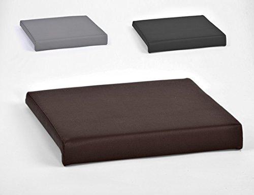 Klemmkissen für Sitzbank Sitz-Kissen 1 Leiste Kunstleder ca. B 40 cm x T 35 cm / 38 cm x H 6 cm in grau, schwarz oder braun, Farbe:braun