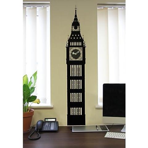 TU38–el Big Ben Reloj de pared pegatinas de vinilo de 4W/3d Clock Face & metal manos 132cm