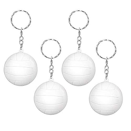 sselanhänger Volleyball Keychain Anhänger Auto Schlüsselbund 20 Stücke (Weiß) ()