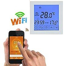 mailfoulen WiFi Digital Planta de Agua de calefacción del termostato de Ambiente programable LCD Display Controlador de Temperatura del termostato WiFi Bien parecido Practico