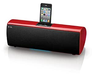 Aves Sapphire Wireless Bluetooth Speaker with iPod Dock - Red