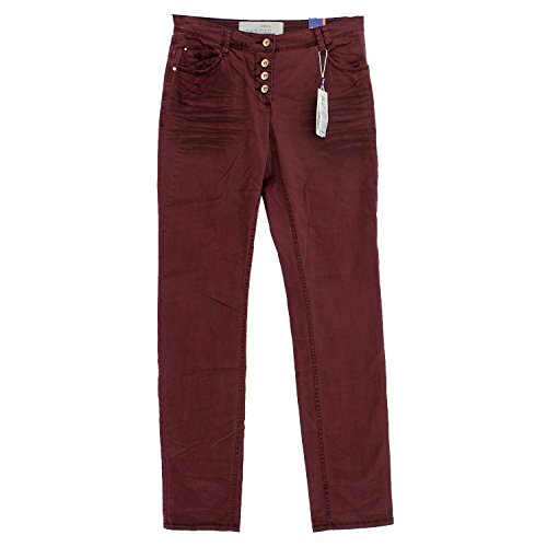 Gabardine Stretch Hose (Cecil, New York, Damen Jeans Hose, Gabardine Stretch, oxblood, W 27 L 32 [18862])