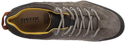 Geox UOMO SNAKE F Herren Sneakers Grau (DOVE GREY/COFFEEC1104)