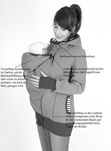 Milchshake - 3in1 Tragejacke aus warmem Sweatstoff - Charlie Schwarz
