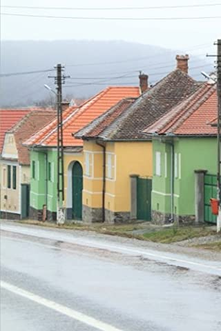 Colorful Houses on a Rainy Day Romania Journal: 150 Page Lined Notebook/Diary