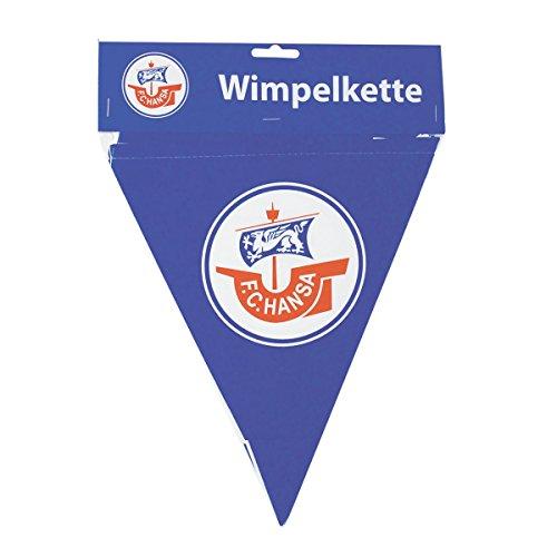 LKETTE 6m F.C. HANSA ROSTOCK (Kunststoff Wimpel Banner)