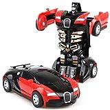 Makasy Robot di trasformazione per Auto telecomandato, Figura di deformazione di Azione del Telecomando Giocattolo di Auto per la trasformazione del Telecomando elettronico per Bambini 6+