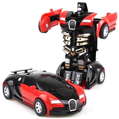 Faviye - Robot da Auto trasformabile, Giocattolo per Bambini, Regalo Rosso