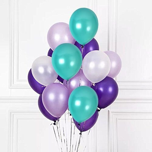Erosion 100 stücke Weiß Lila Dark Purple Sea Schaum Blau Assorted Ballons 12