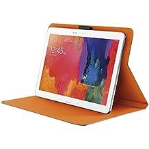 """Trust Aeroo - Funda para tablet de 10"""" (cierre magnético, base adhesiva, función soporte), naranja y gris"""
