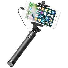 ALPEXE 67440 Selfie Stick avec Lighting Connector, Working avec Iphone Noir