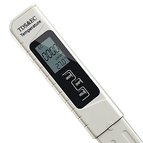 Wasserqualität Härteprüfgerät MAOZUA Professional Digital TDS, EC & Temperaturmesser 0-9999 ppm Messbereich 1 ppm Auflösung ± 2% Hohe Genauigkeit Wasserqualitätszähler Batterie Inbegriffen - Taschengröße Wasser TDS Tester Ideal für Home Trinkwasser Pool (TDS&EC)