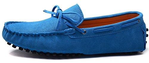 Odema hommes de Docksides Driving Apartments Mocassins en suède Flâneur Chaussures bleu royal