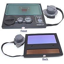Máscara de oscurecimiento automático con control exterior de batería solar y lente de luz/sombreado