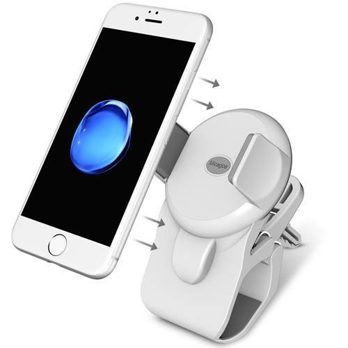 KFZ-Halterung für Lenkrad, Rückspiegel und Air Vent, Handy Halterung für iPhone 7/7Plus/6/6S/6PLUS/6S Plus, Samsung S6/Edge/S7/S7Edge, Note 5, LG G5–Weiß (Legte Sich Auf Den Tisch)