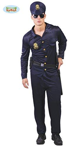 Polizisten Kostüm für Erwachsene Polizist Herrenkostüm Karneval Fasching Polizei Cop Herren Uniform Gr. M-XL, Größe:L