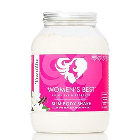 Diet Shake crémeux pour les femmes   Slim Body Shake - Substitut de repas à part entière pour perdre du poids avec 200 kcal   Super-aliments pour le métabolisme et la combustion des graisses   100% de protéines végétales - 1,2 kg - VANILLE