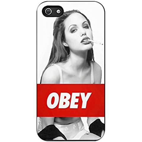 Angelina Jolie Obey Case / Color Black Plastic / Device iPhone 5/5s