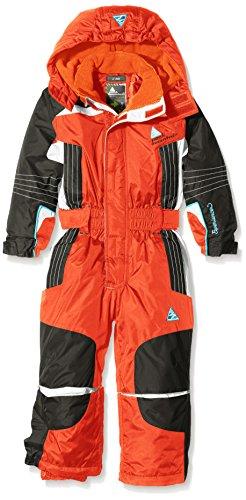 Peak Mountain Ecamate – Traje de esquí para niño, traje, Niño, color naranja, tamaño 3 años (talla del fabricante: 3)