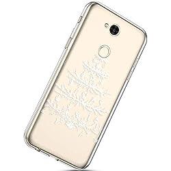 Handytasche Sony Xperia XA2 Ultra Silikonhülle Cover Durchsichtige Handyhülle Silikon Kristall Klar Transparent Schutzhülle Crystal Clear Handycover Dünn Bumper Tasche,Weihnachten Baum