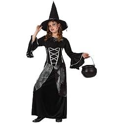 Disfraz de bruja para niña, talla 10-12 años.