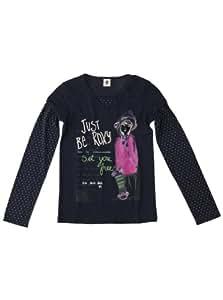 Roxy Mädchen Langarm T-shirt Mono Lake, indigo, 176 / 16 Jahre, WPTJE962CIND-176 / 16 Jahre