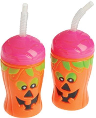 Halloween Thema Kürbis Halloween-Kürbislaterne Sippy Sipper Cup mit Stroh