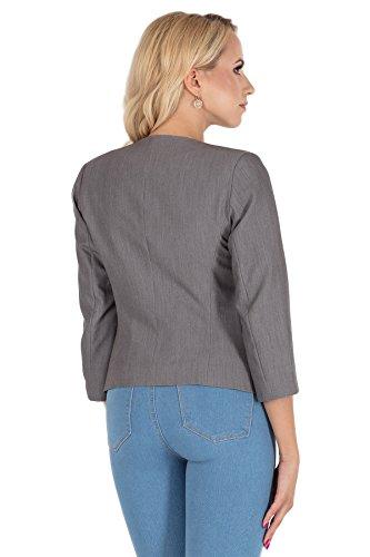 Clea Elegante giacca corta con maniche a 3/4 Grigio