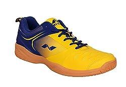 Nivia Mens Yellow, Blue Hy-Court Badminton Shoe (Uk 07)