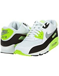 low priced 81d04 7d8cc Nike Mens Air Max 90 Essential White Flash Lime Black Wolf Grey 537384