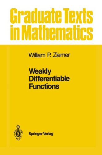 Weakly Differentiable Functions: Sobolev Spaces and Functions of Bounded Variation (Graduate Texts in Mathematics, Band 120)
